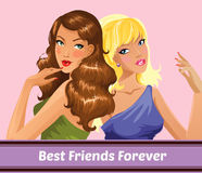 Best friends forever Stock Image