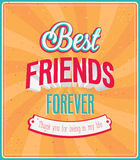 Best friends forever typographic design. Stock Images