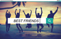 Best Friends Friendship Searching Box Concept Stock Photos