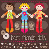 Best friends girls vector Royalty Free Stock Photo