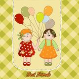 Best friends greeting card Stock Photo