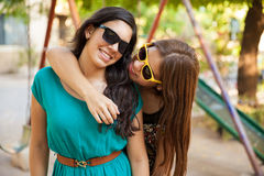 Best friends hanging out Royalty Free Stock Photos