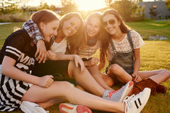 Best friends hanging out Royalty Free Stock Photo