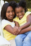 Best friends. Happy little girls. Royalty Free Stock Photos