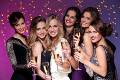 Best friends having a new year party Royalty Free Stock Photography