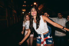 Best friends having a party Royalty Free Stock Photography
