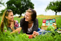 Best friends having a picnic Royalty Free Stock Photo