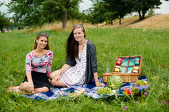 Best friends having a picnic Stock Photos