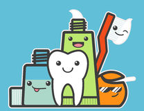 Best friends of healthy tooth. Stock Photo