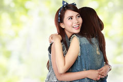 Best friends hug Stock Images