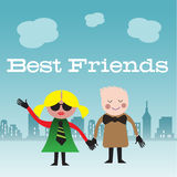 Best friends Stock Images