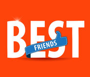 Best friends, illustration typography on bright background Stock Photo