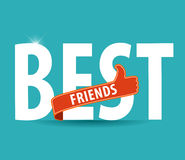 Best friends, illustration typography on bright background Royalty Free Stock Photo
