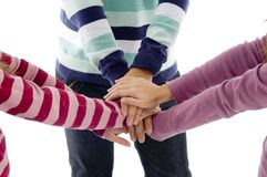 Best friends with joined hands Royalty Free Stock Photo