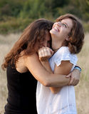 Best friends laughing Royalty Free Stock Image