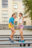 Best friends in the park. Royalty Free Stock Images