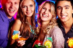 Best friends partying Stock Photos