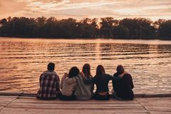 Among best friends. royalty free stock images