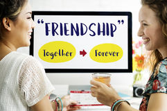 Best Friends Relationships Connecting Concept.  Royalty Free Stock Image