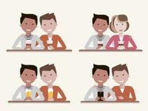 Best Friends Set vector illustration