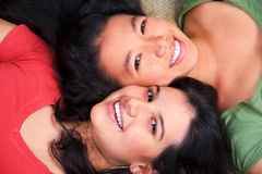 Best friends sharing the time Stock Photo