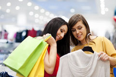 Best friends shopping Stock Photos