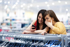 Best friends shopping stock photography
