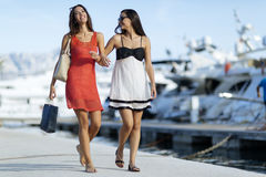 Best friends shopping Royalty Free Stock Images