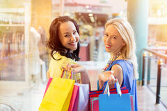 Best friends shopping together Royalty Free Stock Photo