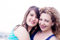 Best friends smiling Royalty Free Stock Photos