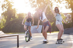 Best friends in summer time Royalty Free Stock Photo