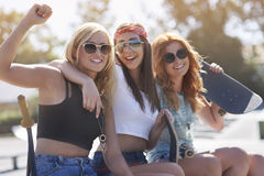 Best friends in summer time Royalty Free Stock Image