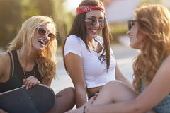 Best friends in summer time Stock Photo