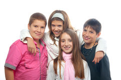 Best friends teenagers posing together Royalty Free Stock Images