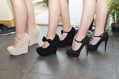Best friends in there high heel Royalty Free Stock Images