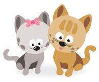 Best friends - two kittens Stock Images