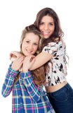 The best friends. Two pretty women Royalty Free Stock Photo