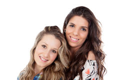 The best friends. Two pretty women Royalty Free Stock Image