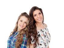 The best friends. Two pretty women Stock Photo