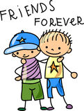 Best Friends,vector Royalty Free Stock Photography