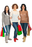 Best friends walking to shopping Royalty Free Stock Photo