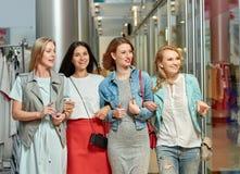 Best Friends women shopping Royalty Free Stock Photo