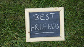 Best friends written Stock Photos