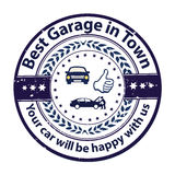 Best Garage in Town. Royalty Free Stock Photography