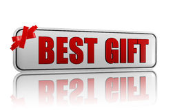 Best gift banner with ribbon Royalty Free Stock Photography
