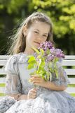 Best gift for girls and women are flowers Stock Images