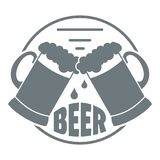 Best Glass Beer Logo, Simple Gray Style Stock Photo
