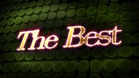 The Best Glitz Sparkle Text Royalty Free Stock Photography