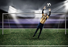 Best goalkeeper Royalty Free Stock Images