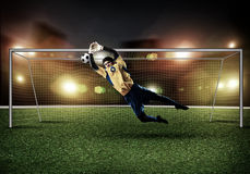 Best goalkeeper Royalty Free Stock Photography